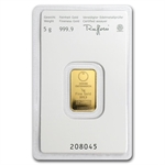 5 gram Austrian Mint Gold KineBar .9999 Fine (In Assay) -New Bars