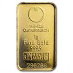 1 gram Austrian Gold KineBar .9999 Fine (In Assay) - New Bars!