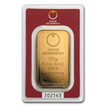 100 gram Austrian Mint Gold Bar .9999 Fine (In Assay) - New Bars!
