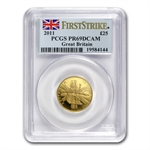 2011 4-Coin Proof Gold Britannia Set PR-69 DCAM PCGS First Strike