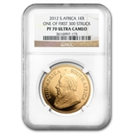 2012 4-Coin Gold South African Krugerrand Set NGC PF-70UCAM