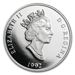 1992 1 oz Canadian Platinum $300 Cougar (Proof)