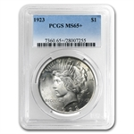 1922-1925 Peace Silver Dollar MS-65+ Plus PCGS