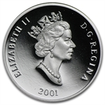 2001 1/2 oz Canadian Platinum $150 Harlequin Duck (Proof)