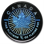 2002 1/4 oz Hologram Platinum Maple Leaf