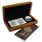 2004 1 oz Silver Canadian Great Grizzly Coin and Stamp Set