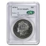 1878-S Morgan Dollar - MS-64 PL Proof Like PCGS - CAC