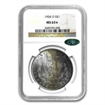 1904-O Morgan Dollar MS-63 NGC* Star Designation Nice Toning CAC