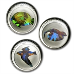 Palau 2009 Silver Proof $5 Pacific Wildlife - 3 Coin Set