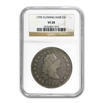 1795 Flowing Hair Dollar Very Fine-20 NGC - 3 Leaves