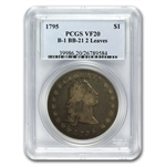1795 Flowing Hair Dollar Very Fine-20 PCGS - 2 Leaves B-1 BB-21