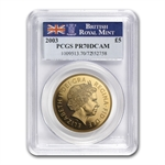 Great Britain 2003 4 Coin Gold Sovereign Set PR-70 DCAM PCGS