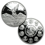 2013 1.9 oz Silver Libertad 5 Coin Set .999 - Proof (In Wood Box)