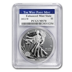 2013-W (Enhanced Finish) Silver Eagle PCGS MS-70