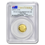 2008 1/25 oz Proof Gold Australian Koala Gem Pf DCAM FS PCGS
