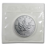2000 1 oz Silver Canadian Maple Leaf - Millennium Fireworks Privy