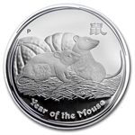 2008 Year of the Mouse - 1 oz Proof Silver Coin (SII) PCGS PR-69