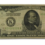 1928 (K-Dallas) $1,000 FRN (PCGS Fine-15)