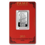 10 gram Pamp Suisse Silver Bar - Year of the Snake (In Assay)