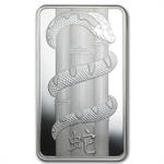 100 gram Pamp Suisse Silver Bar - Year of the Snake (In Assay)
