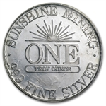 1 oz Sunshine Mining Silver Round (Sealed - Very Nice) .999 Fine