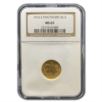 1915-S $2.50 Gold Panama-Pacific - MS-65 NGC