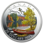 2013 1 oz Silver Canadian $20 Coin - Autumn Bliss
