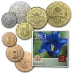 Official Austrian Euro Coin Set 2013 In Blister Pack