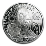"2013 Triassic ""Life In The Water"" 20 Euro Silver Coin ASW 0.5209"