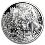 2009 Richard the Lionheart in Duernstein 10 Euro Silver Proof