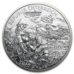 Charlemagne In The Untersberg 10 Euro Silver Coin ASW 0.4758