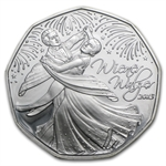 2012 The Home of The Waltz 5 Euro Silver Coin ASW 0.2058
