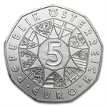The Bicentenary of the Society of Music Lovers 5 Euro Silver Coin