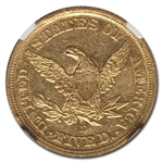 1844-D $5 Liberty Gold Half Eagle - AU-53 NGC