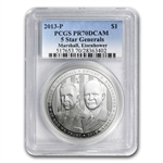 2013-P Five Star General $1 Silver Commem PR-70 DCAM PCGS