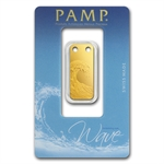 Wave - 1/5 oz Proof Gold Pamp Ingot Pendant