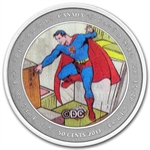2013 Canadian 75th Anniv. of Superman™ Then & Now-Coin and Stamp