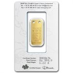Dolphin - 1/5 oz Proof Gold Pamp Ingot Pendant