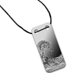 Wave - 1/5 oz Proof Silver Pamp Ingot Pendant