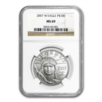 2007-W 1 oz Burnished Platinum American Eagle MS-69 NGC
