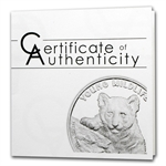 Cook Islands 2013 1 oz Silver Proof Young Wildlife - Tiger