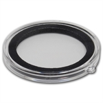 Ornament Capsule for Silver Rounds (38mm) - Black Ring