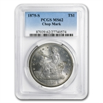 1875-S Trade Dollar - MS-62 PCGS Chopmarks