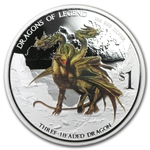 2013 1 oz Proof Silver Dragons of Legend - Three-Headed Dragon