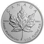 1988 1 oz Canadian Platinum Maple Leaf
