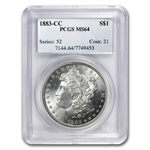 1883-CC Morgan Dollar - MS-64 PCGS Beautiful Toning