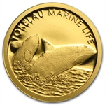 Tokelau 2013 Gold $5 Orca Whale Coin (1/2 gram of Pure Gold)