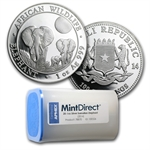 2014 1 oz Silver Somalian Elephants (20-Coin MintDirect® Tube)