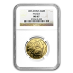 1985 (1/2 oz) Gold Chinese Pandas - MS-67 NGC