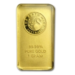 1 gram Perth Mint Gold Bar .9999 Fine (In Assay)